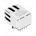 SI-60002-F 10/100 Base-T 1X1 RJ45 Jack Module with Integrated Magnetics