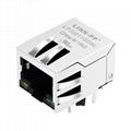 HFJ11-2450E-L21V3 10/100 Base-T 1X1 Port RJ-45 Connector with Magnetics