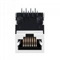 JXR0-0005NL 10/100 Base-T Single Port 8 Pin RJ45 Magnetics Connector