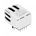 MJ1A-B211-RST001 10/100 Base-T Single Port 8P8C RJ45 Connector with Transformer