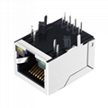 ARJC02-111009D 10/100 Base-T 1X1 Ethernet RJ45 Magjack with Integrated Magnetic
