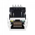 XRJG-01K-4-D22-110 Single Port Socket RJ45 Right Angle Connector