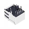 HY911105H 10/100 Base-T 1 Port RJ45 Jack Module With Magnetics