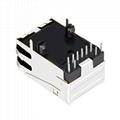 0810-1X1T-06 Single Port 10/100 Base-T RJ45 Modular Socket