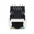 JXR1-0012NL 1X1 Port 10/100 Base-T Magnetics RJ-45 Connector