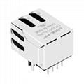 HFJ11-2450 / HFJ11-2450E 1X1 RJ45 Magnetics Connector With LED Light