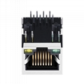 HR911105A 10/100 Base-t 1 Port 8 Pin RJ45 Connector With LED