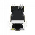 0826-1X1T-GJ-F Single Port 8P8C RJ45 Female Jack Ethernet Connector