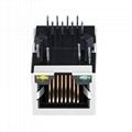 LF1S022-43 Single 10/100 Base-T RJ45 Modular Jack With Integrated Magnetics