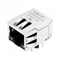 JKM-0001NL Tab Down 1000 Base-t 1X1 Port RJ45 Ethernet Connector 1