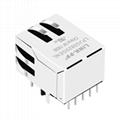JKM-0001NL Tab Down 1000 Base-t 1X1 Port RJ45 Ethernet Connector 3