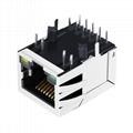 JKM-0001NL Tab Down 1000 Base-t 1X1 Port RJ45 Ethernet Connector 4