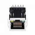 JKM-0001NL Tab Down 1000 Base-t 1X1 Port RJ45 Ethernet Connector 5