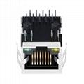 HR931147C 10/100 Base-t 1 Port PoE RJ45 Socket Connector