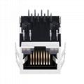5-6605417-6 10/100 Base-t 1 Port RJ45 Jack Socket Connector