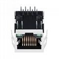 5-6605473-7 10/100 Base-T Single Port 8 Pin RJ45 Connector