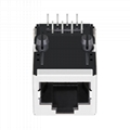 46F-1207NDNW3NL 1X1 RJ45 8 Pin Female Connector With Magnetics
