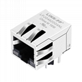 Single Port RJ45 Female Connector with 10/100/1000 Base-T Integrated Magnetics,