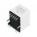 V890-1AX1-Y5 Vertical RJ45 1000 Base-T Integrated Magnetics Connector