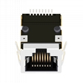 HY991101C 10/100 Base-t Single Port Surface Mount RJ45 Connector With Magnetics