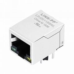 J00-0045 / J00-0045NL 100 Base-t Single Port RJ45 Connector Magjack