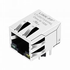48F-33GY3DS2NL Jack 1x1 RJ45 and RJ45 Magnetic Connector