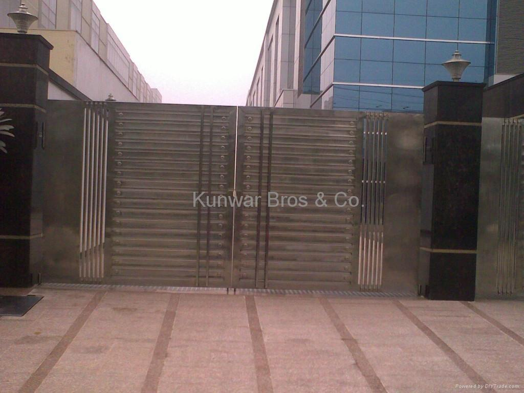 Stainless Steel Main Gate 1. Stainless Steel Main Gate  India Manufacturer    Building Steel