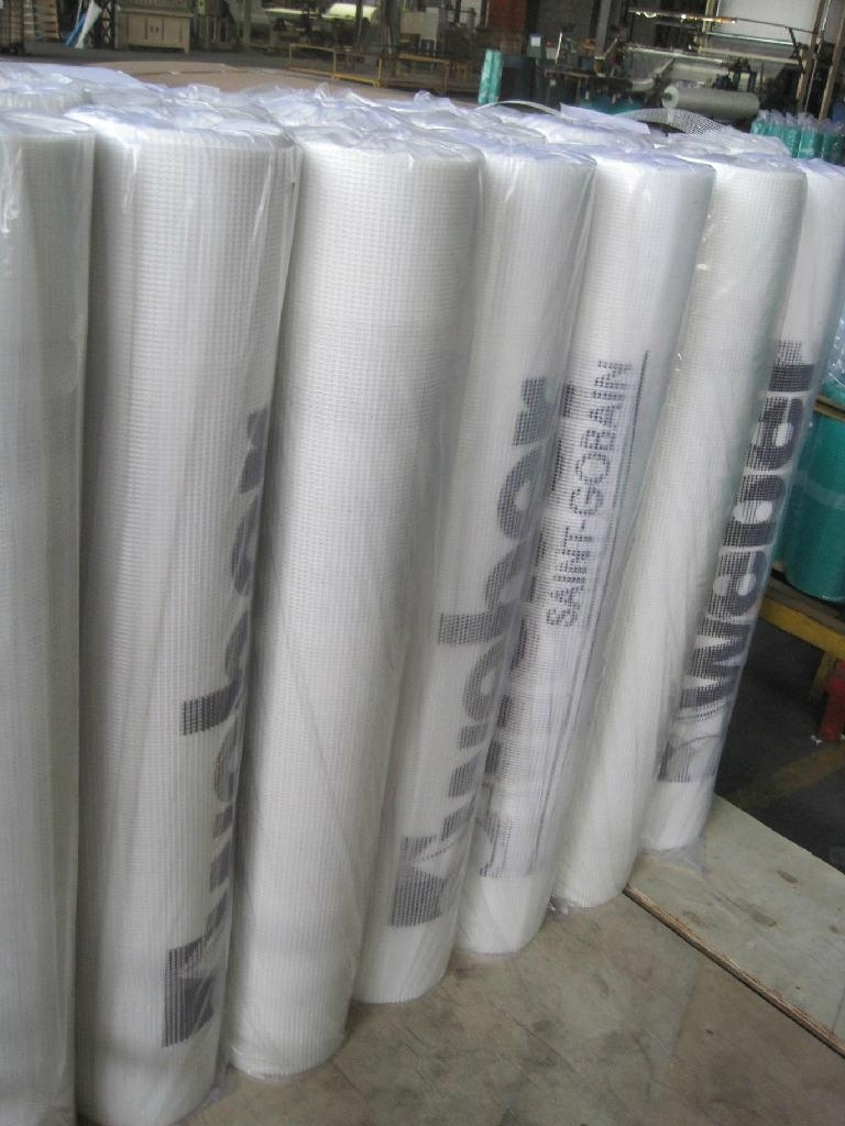 Fiberglass mesh fabric with Logo printing 1