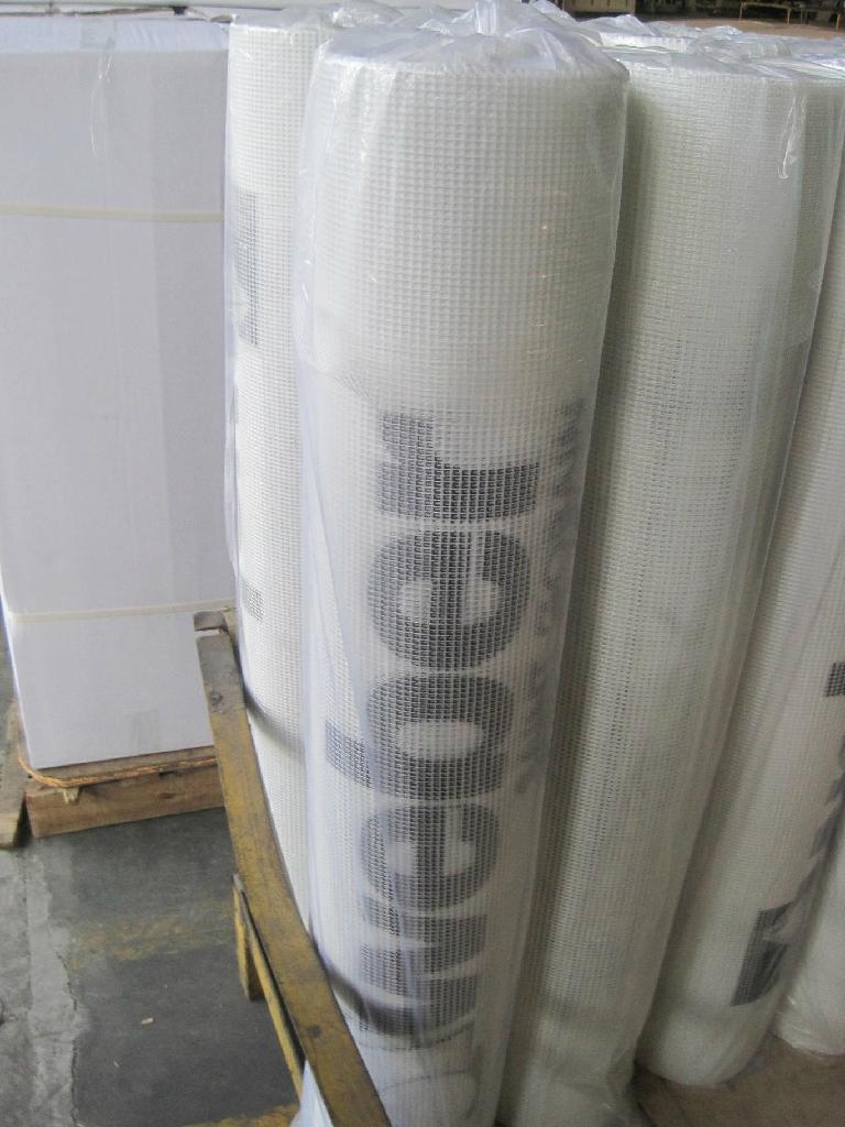 Fiberglass mesh fabric with Logo printing 2