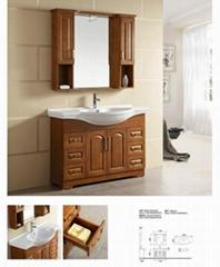 High Quality Oak Solid Wood Bathroom Cabinet