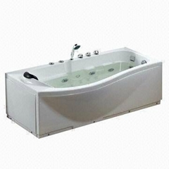 Rectangle Indoor SPA Massage Bathtub Whirlpools Acryic Tub