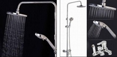 Luxury Brass Shower Set, Rain Head Shower, Thermostatic Shower