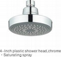 "4"" Plastic Round Rain Shower Head/Top"