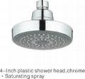 "4"" Plastic Round Rain Shower Head/Top"
