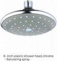 "6"" Top Round Rain Shower Head with ABS 1"