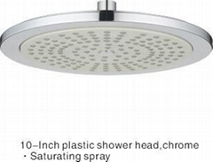 10 Inches Electroplating Round Top Shower Head, Overhead Shower Head