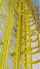Fiberglass Reinforced Plastic Ladder with Cage,fiberglass ladder