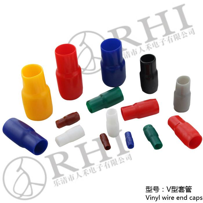 Pvc Insulated Cable Lug : Vinyl wire end cap cable lug insulated sleeve hhc rhi