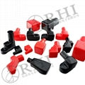 RHI Motorcycle soft rubber cable battery terminal covers insulation battery caps