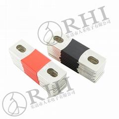 新能源電動車電池連接銅排,帶絕緣保護套