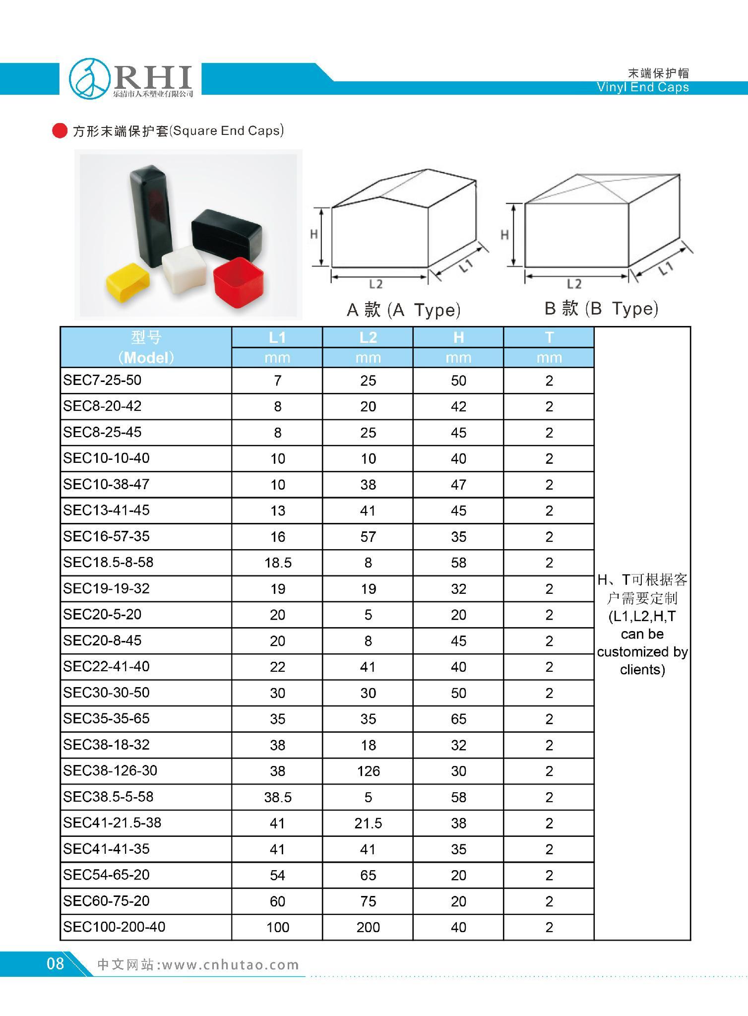 各種塑料保護蓋 方形塑料蓋 4