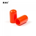 customized round pvc end cap , steel