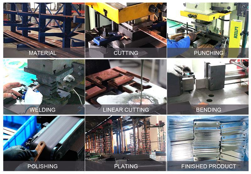 專業定製紫銅硬連接加工 新能源電動銅排配件 8