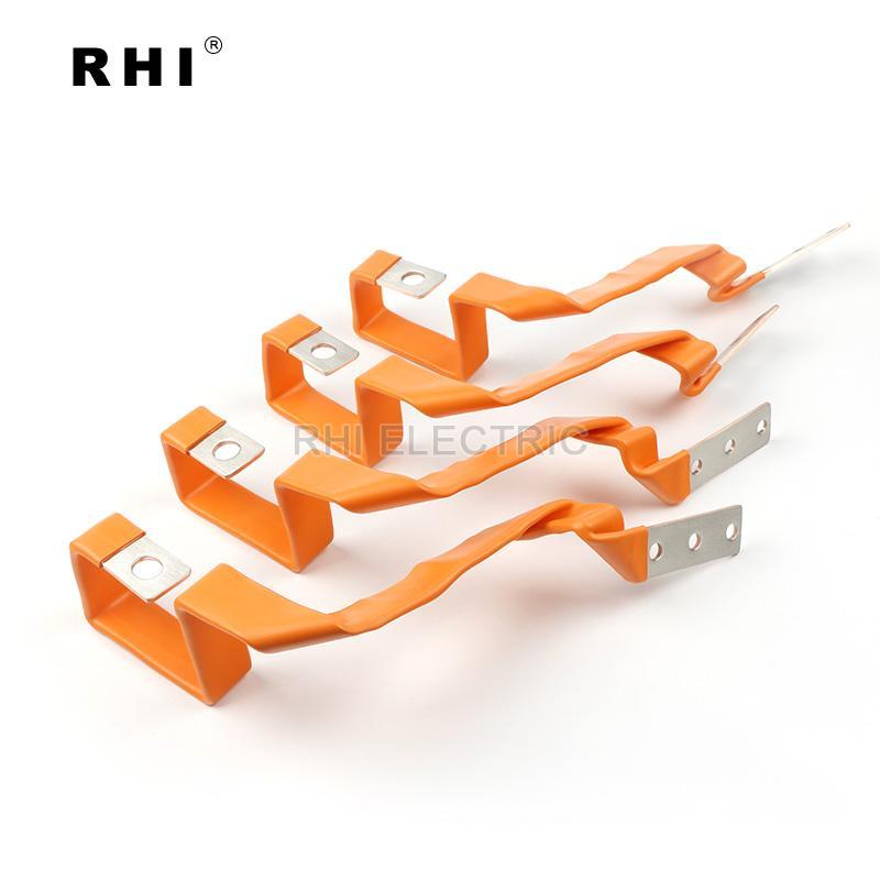 新能源动力电池软连接 软铜排带热缩管 2