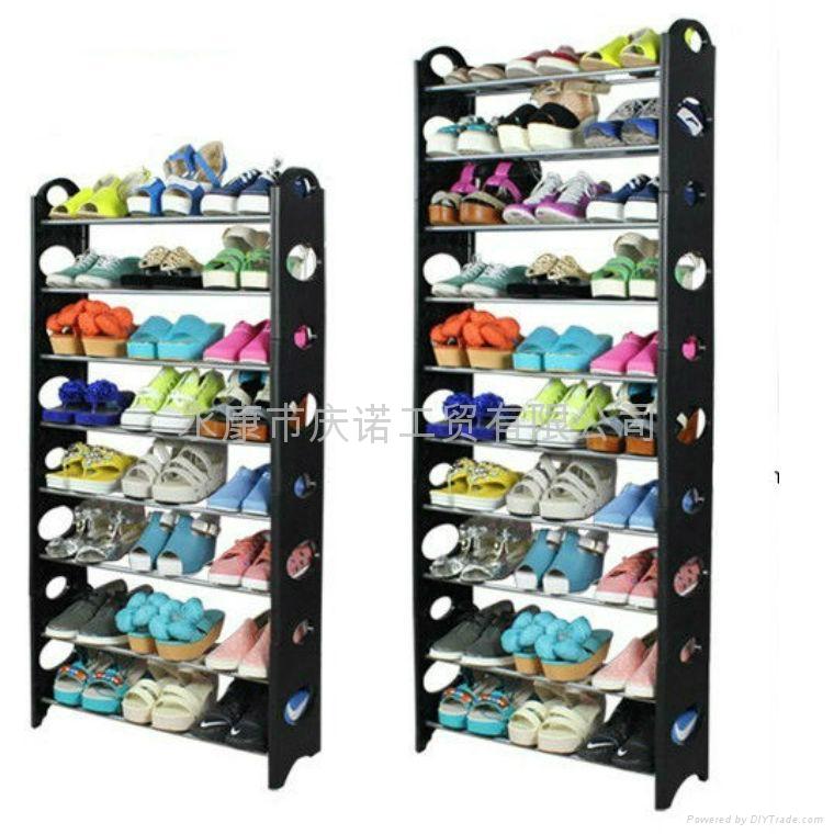 慶諾簡易組裝塑料10層多層鞋架鞋櫃 1