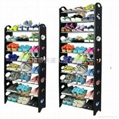 庆诺简易组装塑料10层多层鞋架鞋柜