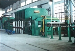 Plate vulcanizing machine complete production line