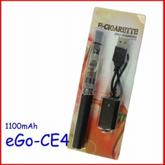Wholesale price 1100mah battery 7 colors available ce4 atomizer ego-ce4 blister