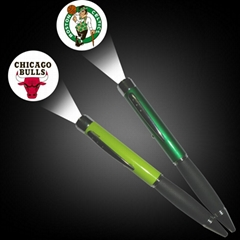 厂家批发定制LED投影灯笔 彩色投影圆珠笔礼品