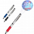 LED金属投影笔 LOGO投影 硅胶投影笔时尚促销礼品圆珠笔 2